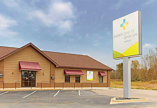 Goshen Center for Cancer Care at Warsaw location, contact information and map in the Goshen Health network.